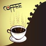 Chávena de café com coração Fotografia de Stock Royalty Free