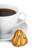 Café e biscoitos fotos de stock