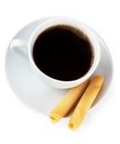 Café e biscoitos imagens de stock