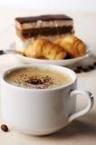 Chávena de café com sobremesa Foto de Stock