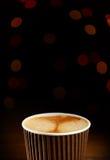 Chávena de café de papel fotografia de stock