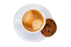 Chávena de café e bolinho Fotografia de Stock Royalty Free