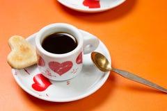 Chávena de café e bolinhos foto de stock