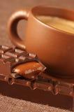 Chávena de café e chocolate Imagem de Stock Royalty Free