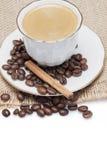 Chávena de café e um espaço da cópia. Foto de Stock