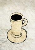Chávena de café em uma parede foto de stock royalty free