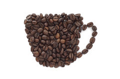 Chávena de café (isolada) Imagens de Stock Royalty Free
