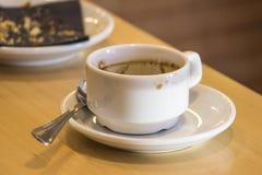 Chávena de café vazia Fotos de Stock Royalty Free