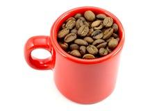 Chávena de café vermelha fotografia de stock