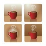 Chávena de café vermelha Imagem de Stock Royalty Free