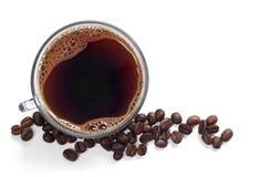 Chávena de café de vidro Imagem de Stock