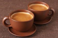 Chávenas de café Imagem de Stock