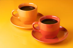 Chávenas de café coloridos Imagem de Stock Royalty Free