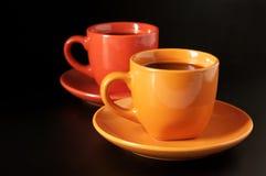 Chávenas de café coloridos Fotografia de Stock