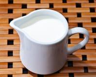 Chávenas de café e leite Fotos de Stock Royalty Free