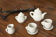 Chávenas de café e vidros Foto de Stock