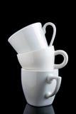 Chávenas de café empilhadas Imagens de Stock Royalty Free