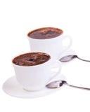 Chávenas de café no branco   Fotografia de Stock