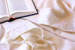 Châle de prière - Tallit, symbole religieux juif Image stock