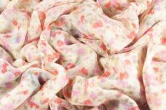 Châles en soie avec des fleurs Image stock