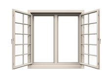 Châssis de fenêtre d'isolement illustration stock