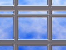 Châssis de fenêtre de chrome Photos libres de droits