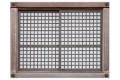 Châssis de fenêtre en bois de style ancien d'isolement sur le blanc images stock