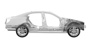 Châssis de voiture avec le moteur Photographie stock libre de droits