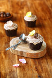 Châtaigne Mont Blanc Cupcakes Photos libres de droits