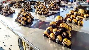 Châtaigne turque de nourriture de rue Image libre de droits