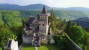 Château à C.A. de ¾ d'OstroÅ Images libres de droits