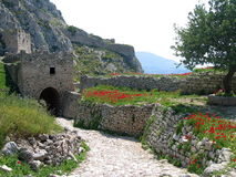 Château à Corinthe en Grèce Image libre de droits
