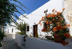 Château à l'île Grèce de Folegandros Images libres de droits