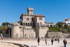Château à la plage de Tamariz photos libres de droits