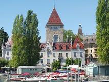 Château à Lausanne Photos stock