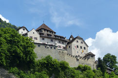 Château à Vaduz, Liechtenstein Photo libre de droits