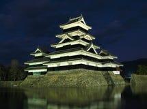 Château 08, nuit, Japon de Matsumoto Image libre de droits