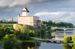 Château allemand dans Narva Photos libres de droits