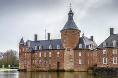 Château Anholt, Allemagne de l'eau photo stock
