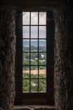 Château Antic avec des arbres en Pologne Photographie stock libre de droits