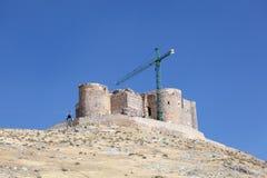 Château antique à Consuegra, Espagne images libres de droits
