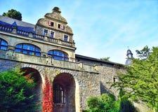 Château antique de pierre de carrière Images stock