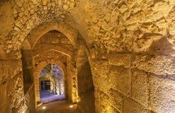 Château arabe antique AR-rabique Ajlun Jordanie de forteresse de Qalat Images stock