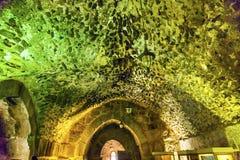 Château arabe antique AR-rabique Ajlun Jordanie de Qalat Image libre de droits