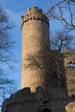 Château Auerbach (château de ruines d'Auerbacher) Photos libres de droits