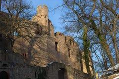 Château Auerbach (château de ruines d'Auerbacher) Photo libre de droits