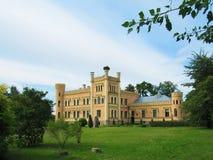 Château baronnial du 19ème siècle Photographie stock libre de droits