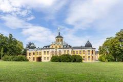 Château baroque de belvédère construit pour des maison-parties à Weimar, Thur image libre de droits