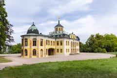 Château baroque de belvédère construit pour des maison-parties à Weimar, Thur images stock