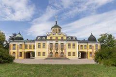 Château baroque de belvédère construit pour des maison-parties à Weimar, Thur photographie stock